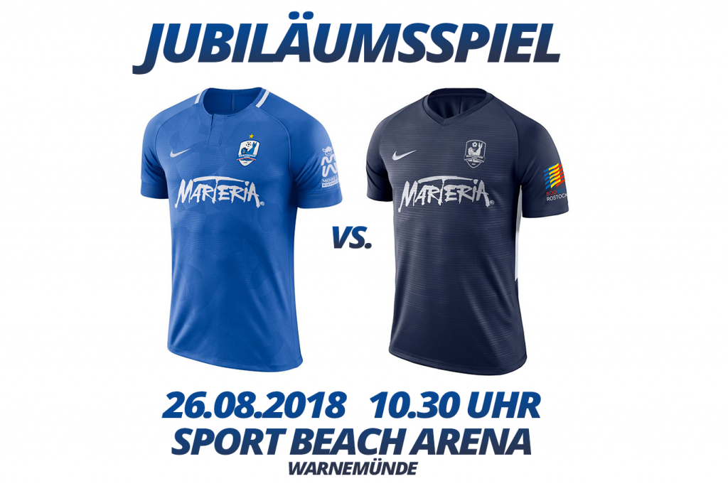 Jubiläumsspiel am 26. August in Warnemünde